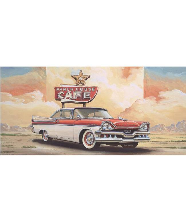 Kunstzinnige Ingelijste Posters: Route 66 Dodge in desert