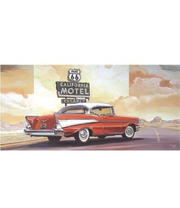 Ingelijste Posters: Route 66 California Motel