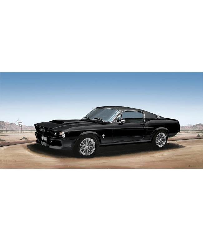 Kunstzinnige Ingelijste Posters: Route 66 Zwarte Mustang
