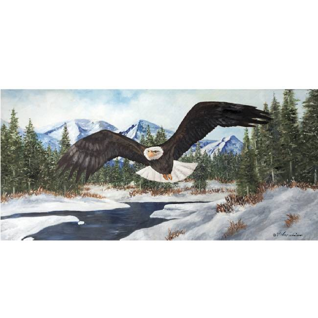 Kunstzinnige Ingelijste Posters: Vliegende Amerikaanse Arend