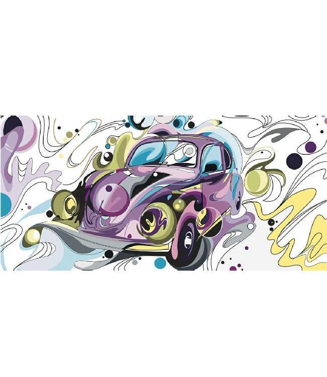 Kunstzinnige Ingelijste Posters: Volkswagen Kever Popart