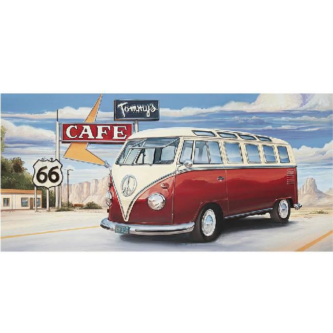 Kunstzinnige Ingelijste Posters: Route 66 Volkswagen bus