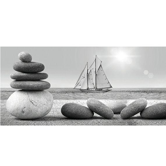 Kunstzinnige Ingelijste Posters: Zeilboot in de verte
