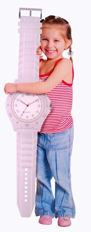 Wandklok horloge wit (90cm)