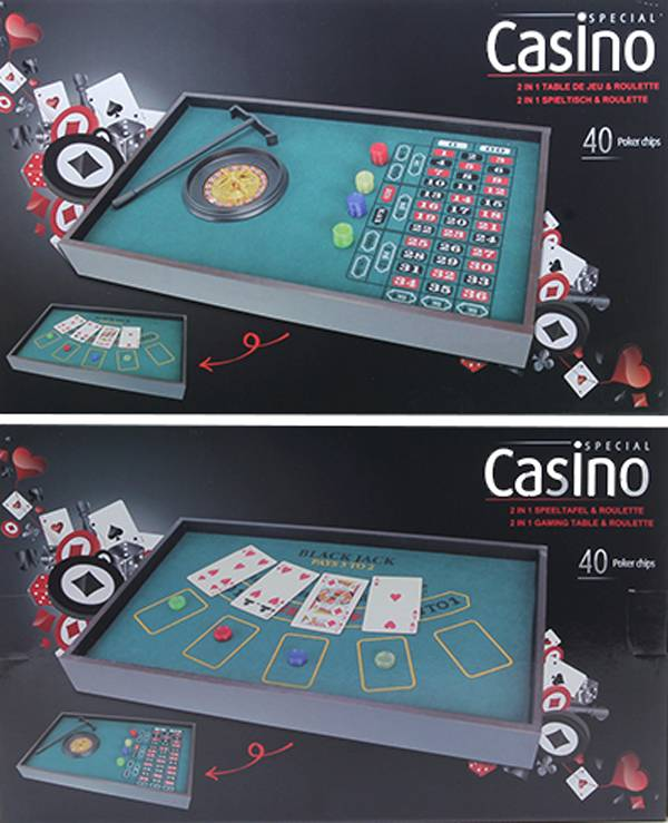 Casino Roulette & Speeltafel (2-in-1)