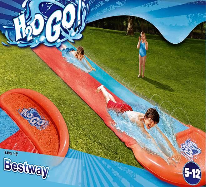 H2O Go Dubbele glijbaan 5.49 meter vanaf (5 jr.)