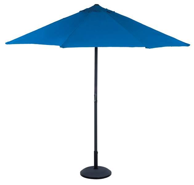 Parasol met zwengel, 2,70 m (blauw)