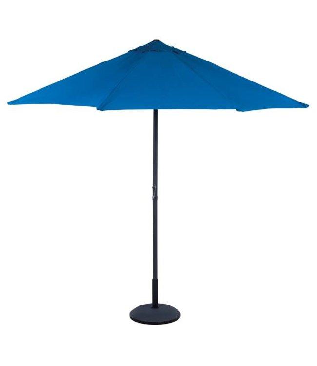 Parasol blauw met zwengel, 3 meter