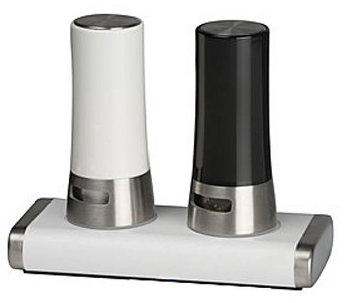 Peper- en zoutstel met magnetische standaard