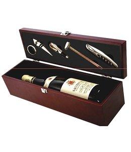 Wijn cadeau set in houten box
