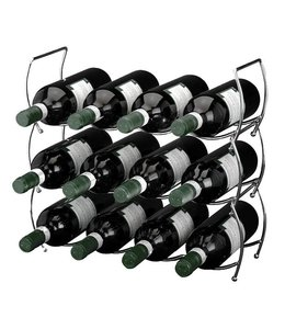 Wijnrek voor 12 flessen (3 delig - stapelbaar)