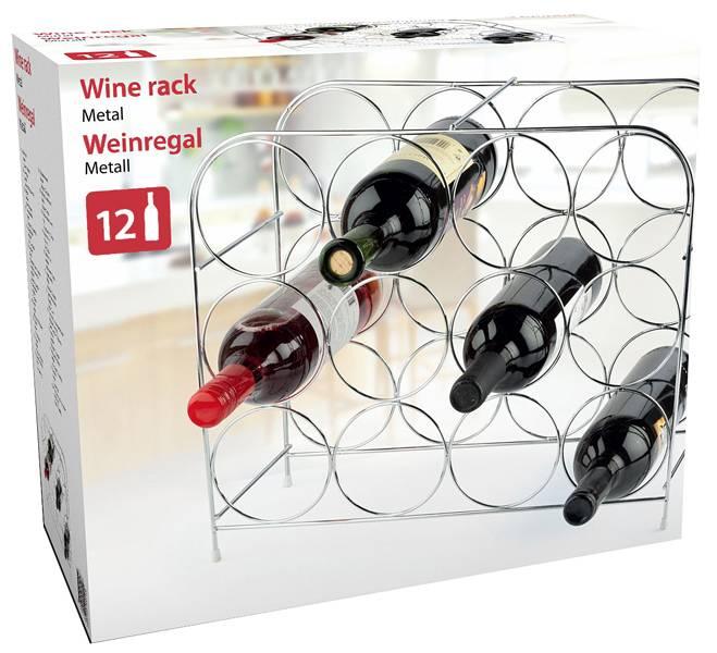 Metalen wijnrek voor 12 flessen