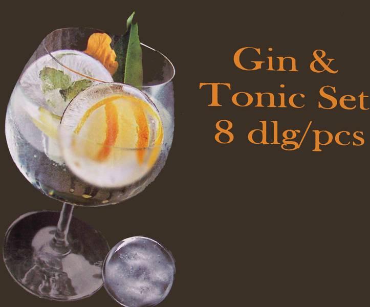 Gin en tonic set (8dlg)
