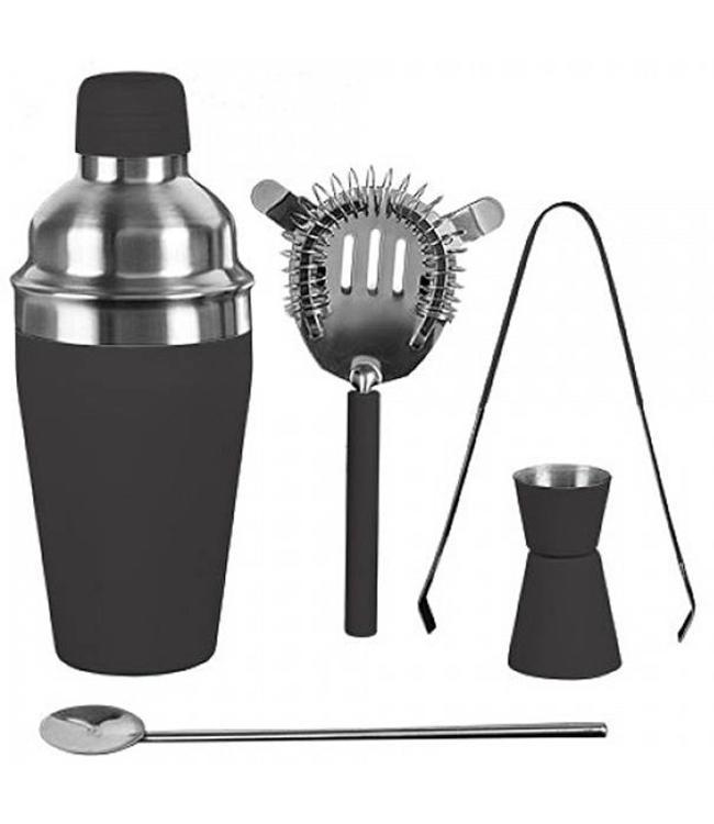 Cocktailshakerset 5 dlg grijs