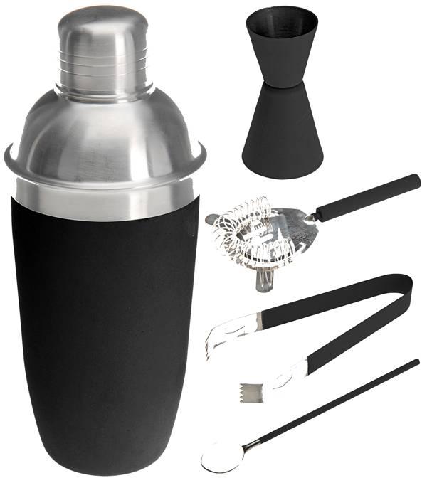 Cocktailshakerset 5 dlg zwart