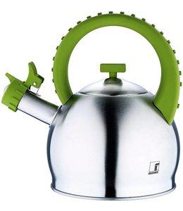 RVS fluitketel 2.8 liter groen