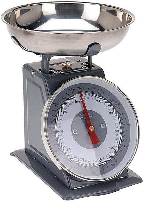 Keukenweegschaal 5kg, grijs