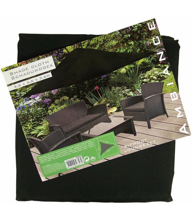 Schaduwdoek 360 x 360 x360 zwart