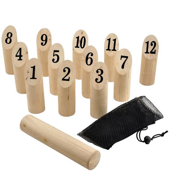 Houten kegelwerpspel 14-delig