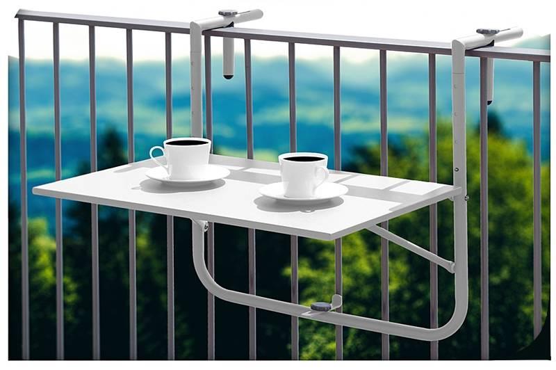 Balkontafel wit 60x40cm