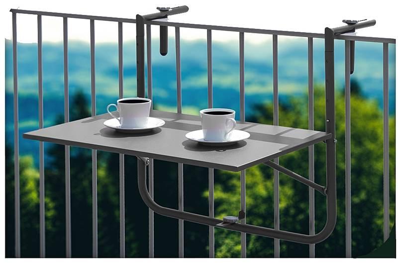 Balkontafel grijs 60x40cm