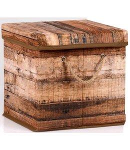 Opbergbox bruin 23x23x23cm