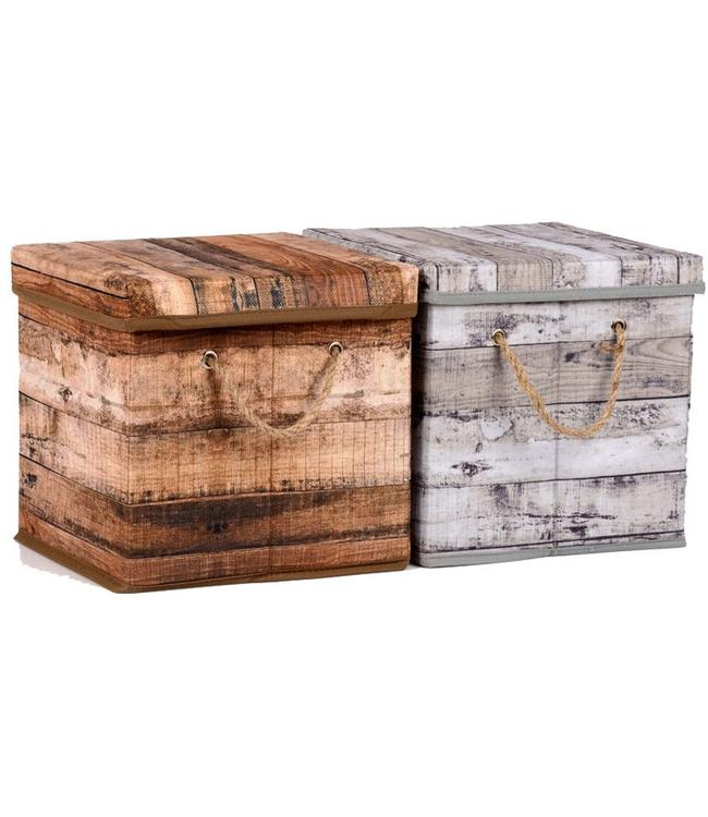 Opbergbox  grijs 23x23x23cm