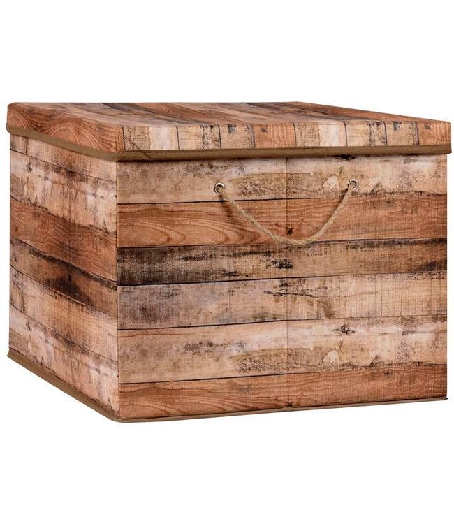 Opbergbox bruin 50x40x33cm