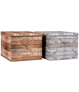 Opbergbox grijs 50x40x33cm