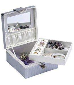 Juwelendoos met spiegel (17x17x8cm)