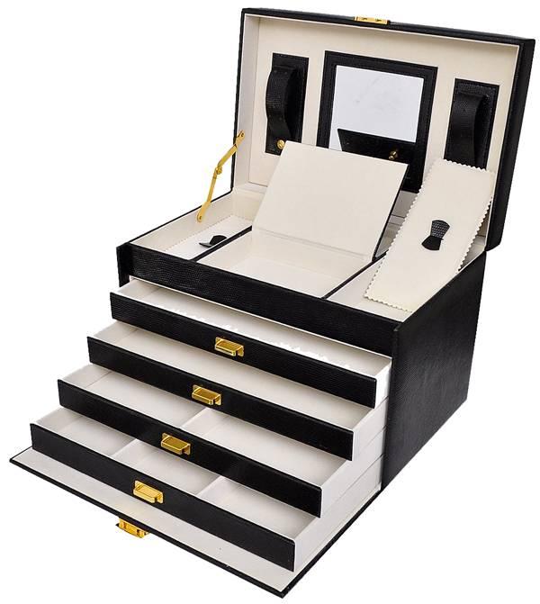 Luxe sieradenbox met spiegel (30,5x19,5x20)