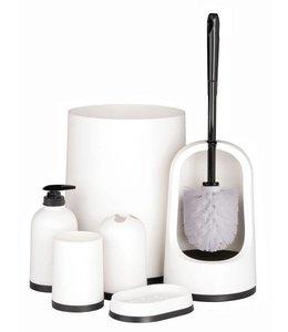 Badkamer- en toiletset wit (7 delig)