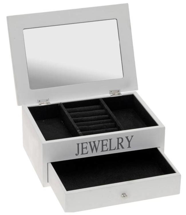 Juwelenkistje met spiegel en lade