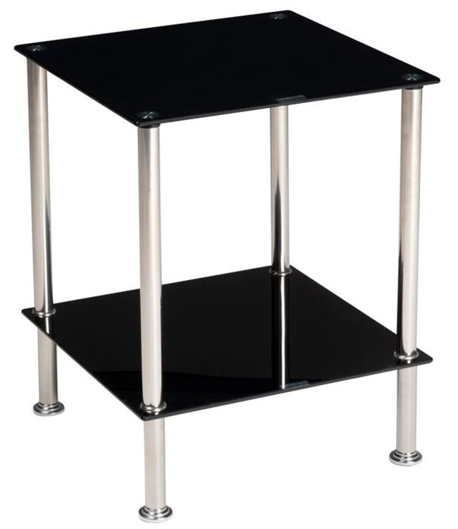 HomeStyle Bijzettafel 40x40x50 (zwart)