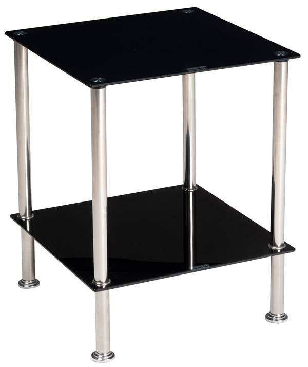 Bijzettafel 40x40x50 (zwart)