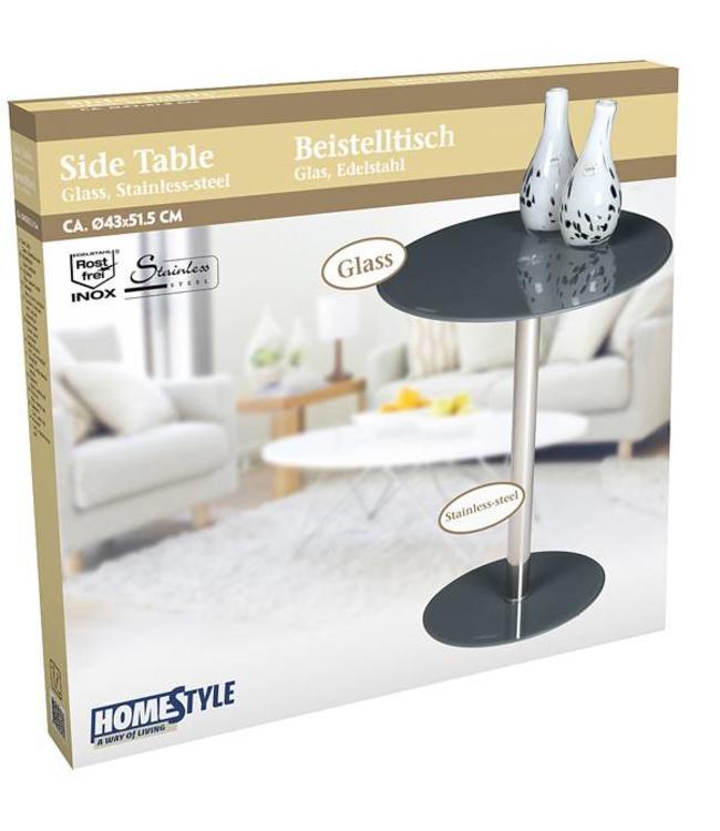 HomeStyle Bijzettafel 43x51,5 (grijs)