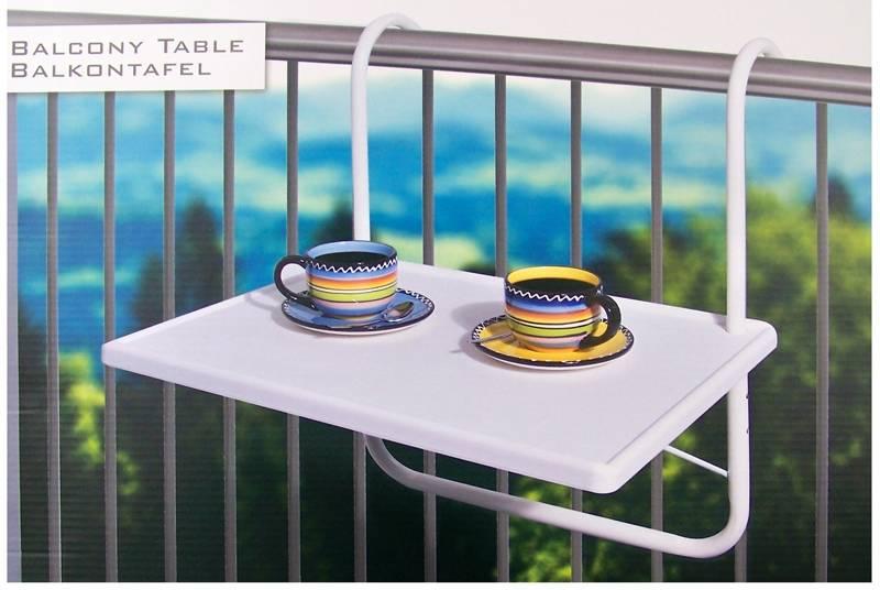 Balkontafel wit 53x40cm