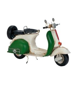 Model Retro Vespa Scooter Wit