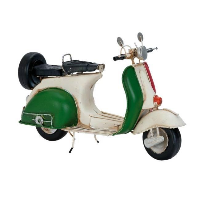 Model Retro Vespa Scooter Wit