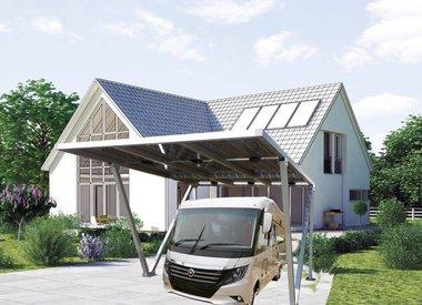 Solvana Solar Aluminium Carports EU DeLuxe