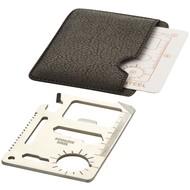 Saki 15 in 1 tool card, zilver / zwart