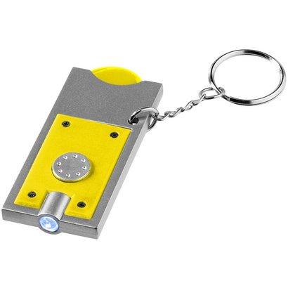 Allegro sleutelhanger met munthouder en lampje