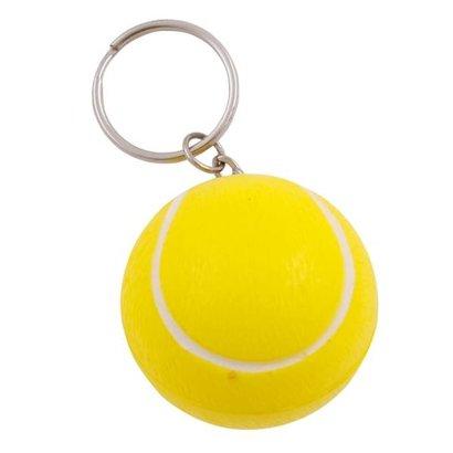 Anti-stress met sleutelhanger Tennisbal
