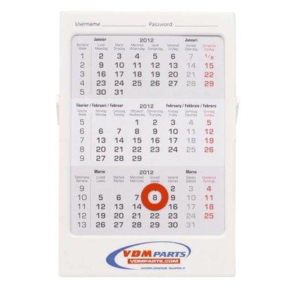 3 maands bureau kalender