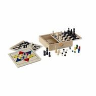 houten spel 5 in 1