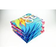 Reactief geprinte handdoeken 30 x 50cm