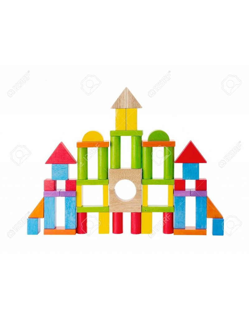 Colorful Wooden Toy Blocks