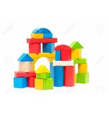Bunte hölzerne Spielzeug-Blöcke