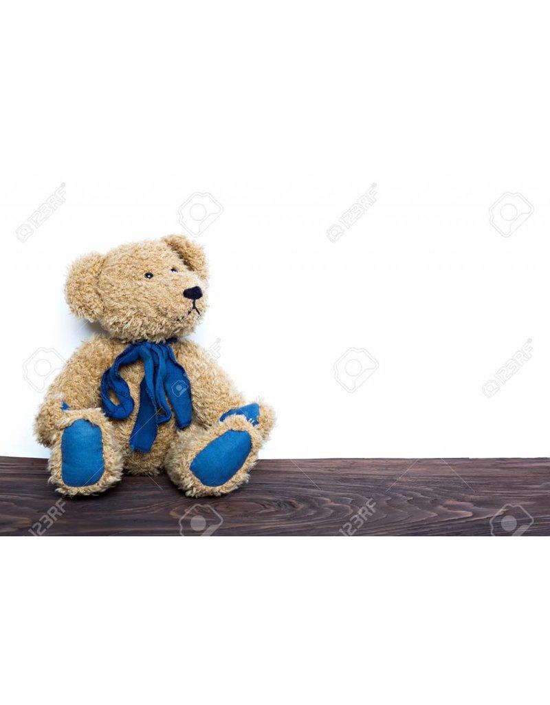 Fluffy Bruin Blauw draag