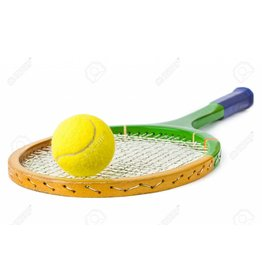 Tennis racket en bal